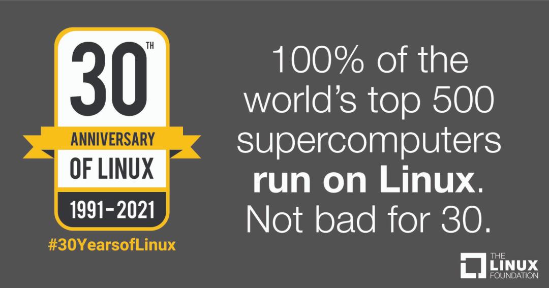 硬核致敬 Linux !30 岁生日快乐!